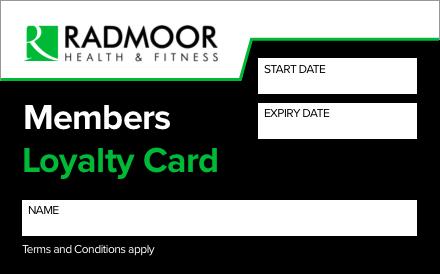 Radmoor Centre Loyalty Card
